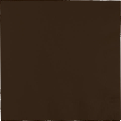 Brown Bulk Party 3 Ply Lunch Napkins (500/Case)-Solid Color Party Tableware-Creative Converting-500-