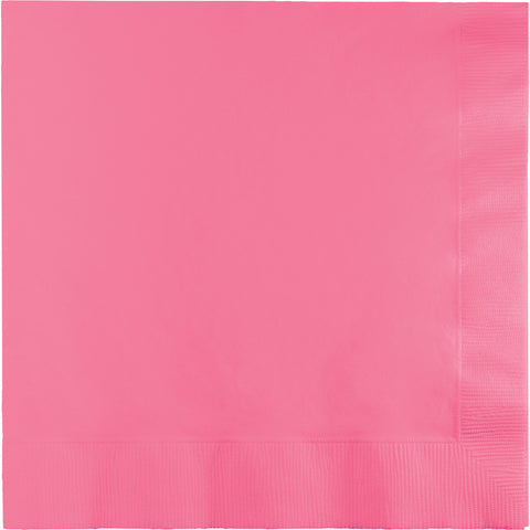 Candy Pink Bulk Party 3 Ply Lunch Napkins (500/Case)