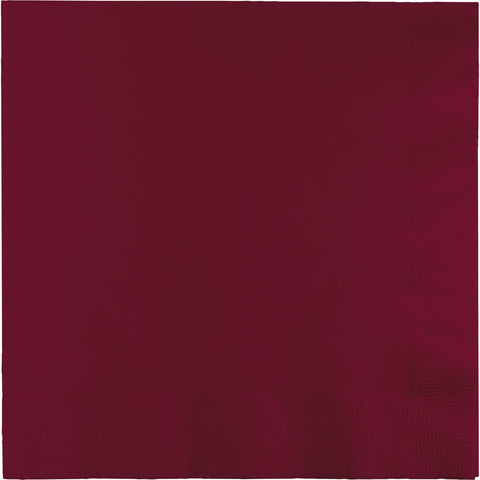 Burgundy Bulk Party 3 Ply Lunch Napkins (500/Case)