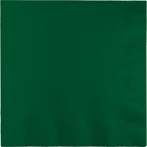 Hunter Green Bulk Party 3 Ply Lunch Napkins (500/Case)-Solid Color Party Tableware-Creative Converting-500-