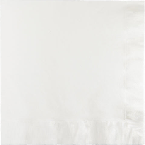 White Bulk Party 3 Ply Dinner Napkins 1/4 Fold (250/Case)
