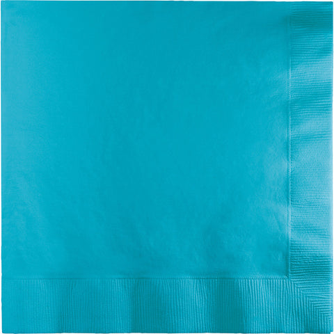 Bermuda Blue Bulk Party 3 Ply Dinner Napkins 1/4 Fold (250/Case)