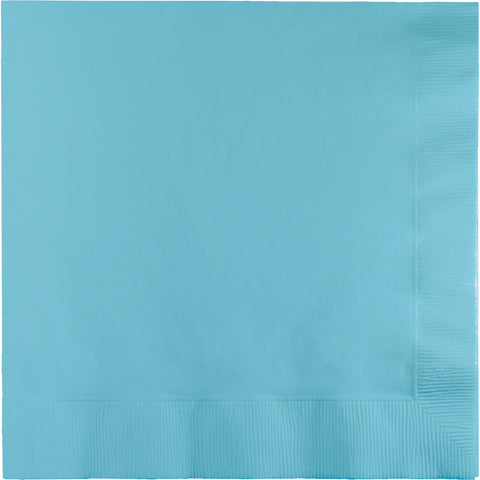 Baby Blue Bulk Party 3 Ply Dinner Napkins 1/4 Fold (250/Case)