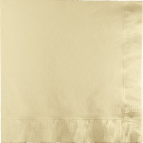 Ivory Bulk Party 3 Ply Dinner Napkins 1/4 Fold (250/Case)-Solid Color Party Tableware-Creative Converting-250-