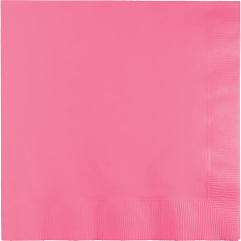 Candy Pink Bulk Party 3 Ply Dinner Napkins 1/4 Fold (250/Case)