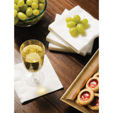 White Disposable Catering Beverage Napkins