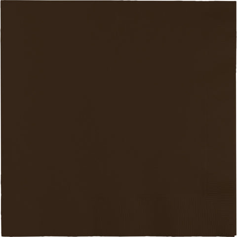 Brown Bulk Party 2 Ply Lunch Napkins (600/Case)-Solid Color Party Tableware-Creative Converting-600-
