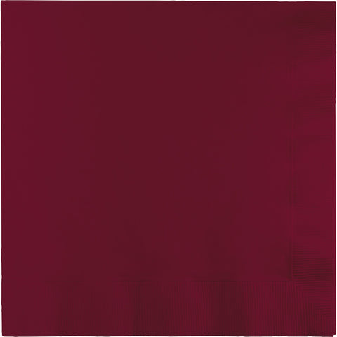 Burgundy Bulk Party 2 Ply Lunch Napkins (600/Case)