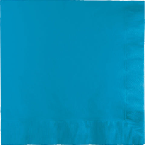 Turquoise Bulk Party 2 Ply Lunch Napkins (600/Case)-Solid Color Party Tableware-Creative Converting-600-