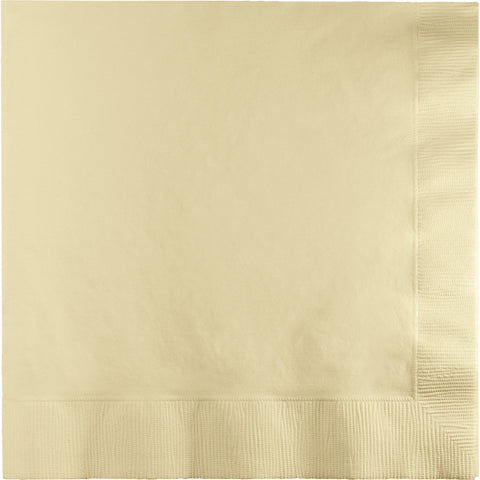 Ivory Bulk Party 2 Ply Lunch Napkins (600/Case)-Solid Color Party Tableware-Creative Converting-600-