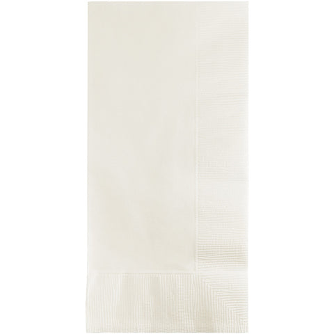 White Bulk Party 2 Ply Dinner Napkins 1/8 Fold (600/Case)