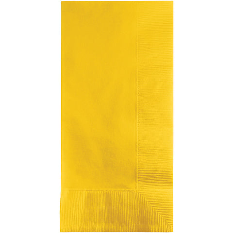 School Bus Yellow Bulk Party 2 Ply Dinner Napkins 1/8 Fold (600/Case)