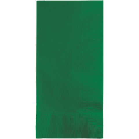 Emerald Green Bulk Party 2 Ply Dinner Napkins 1/8 Fold (600/Case)