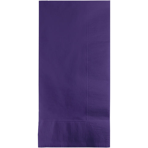 Purple Bulk Party 2 Ply Dinner Napkins 1/8 Fold (600/Case)-Solid Color Party Tableware-Creative Converting-600-