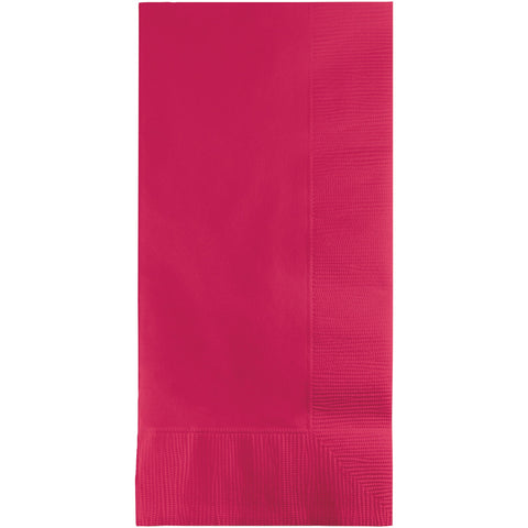Hot Magenta Pink Bulk Party 2 Ply Dinner Napkins 1/8 Fold (600/Case)