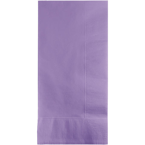 Lavender Bulk Party 2 Ply Dinner Napkins 1/8 Fold (600/Case)-Solid Color Party Tableware-Creative Converting-600-