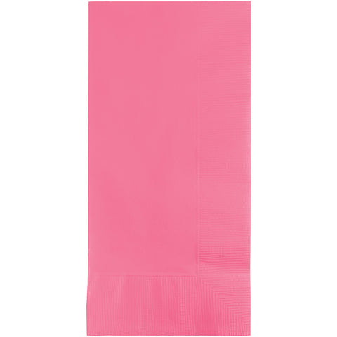 Candy Pink Bulk Party 2 Ply Dinner Napkins 1/8 Fold (600/Case)