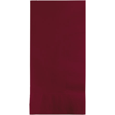 Burgundy Bulk Party 2 Ply Dinner Napkins 1/8 Fold (600/Case)