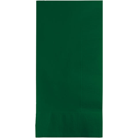 Hunter Green Bulk Party 2 Ply Dinner Napkins 1/8 Fold (600/Case)