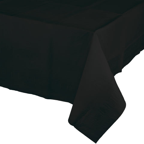 "Black Bulk Party Paper Tablecovers 54""x 108"" (24/Case)-Solid Color Party Tableware-Creative Converting-24-"
