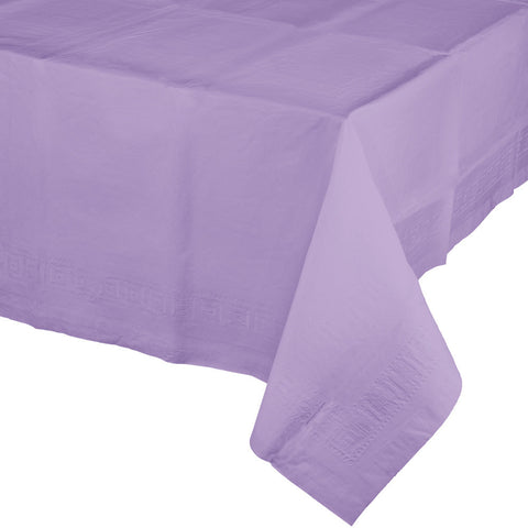 "Lavender Bulk Party Paper Tablecovers 54""x 108"" (6/Case)-Solid Color Party Tableware-Creative Converting-6-"