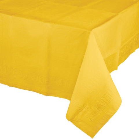 "School Bus Yellow Bulk Party Paper Tablecovers 54""x 108"" (6/Case)-Solid Color Party Tableware-Creative Converting-6-"