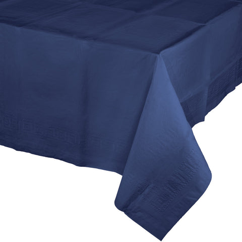 "Navy Blue Bulk Party Paper Tablecovers 54""x 108"" (6/Case)-Solid Color Party Tableware-Creative Converting-6-"