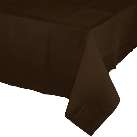 "Brown Bulk Party Paper Tablecovers 54""x 108"" (6/Case)-Solid Color Party Tableware-Creative Converting-6-"