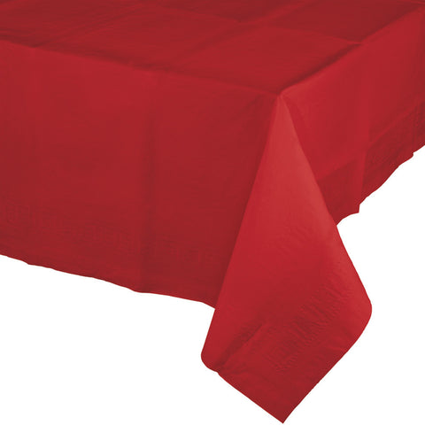 "Red Bulk Party Paper Tablecovers 54""x 108"" (6/Case)-Solid Color Party Tableware-Creative Converting-6-"