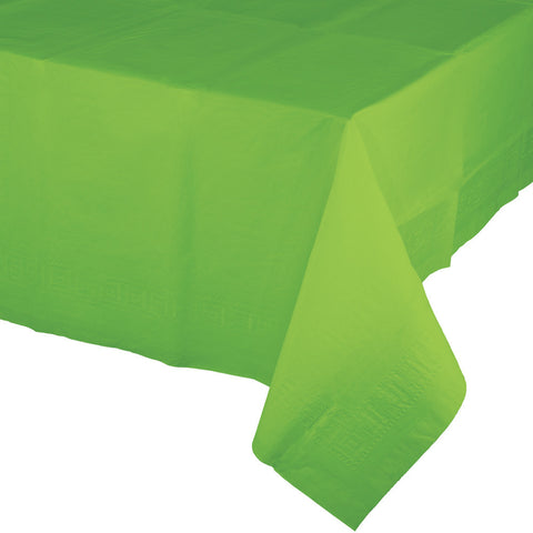 "Lime Green Bulk Party Paper Tablecovers 54""x 108"" (6/Case)-Solid Color Party Tableware-Creative Converting-6-"
