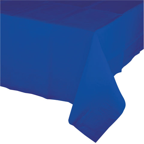 "Cobalt Blue Bulk Party Paper Tablecovers 54""x 108"" (6/Case)-Solid Color Party Tableware-Creative Converting-6-"