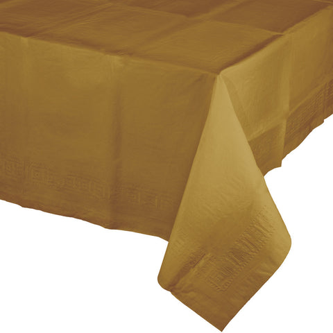 "Gold Bulk Party Paper Tablecovers 54""x 108"" (6/Case)-Solid Color Party Tableware-Creative Converting-6-"