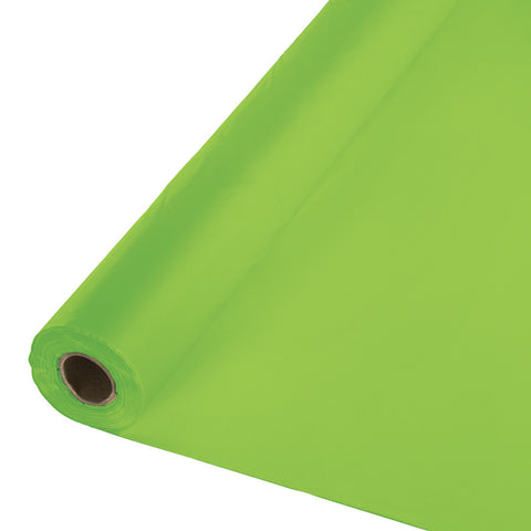 "Lime Green Bulk Party Plastic Tablecloth Rolls 40"" X 250' (1/Case)"