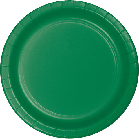 "Emerald Green Bulk Party Paper Lunch Plates 7"" (240/Case)"