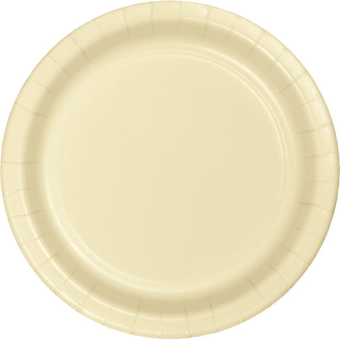 "Ivory Bulk Party Paper Lunch Plates 7"" (240/Case)-Solid Color Party Tableware-Creative Converting-240-"