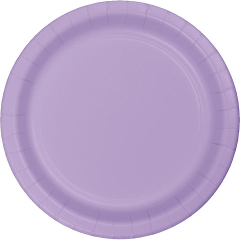 "Lavender Bulk Party Paper Lunch Plates 7"" (240/Case)-Solid Color Party Tableware-Creative Converting-240-"