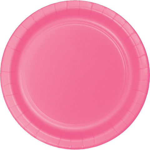 "Candy Pink Bulk Party Paper Lunch Plates 7"" (240/Case)"