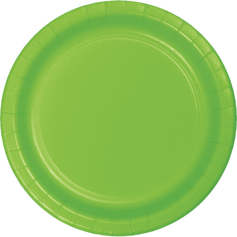 "Lime Green Bulk Party Paper Lunch Plates 7"" (240/Case)"