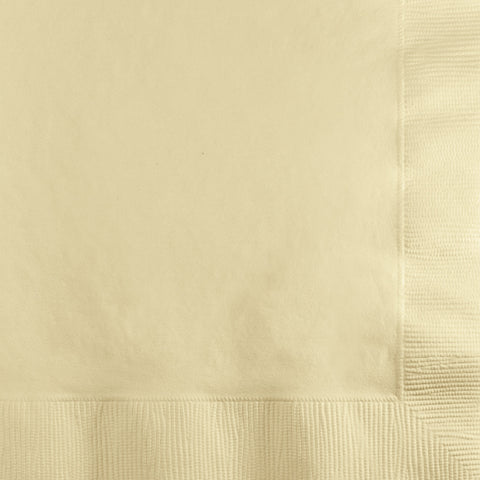 Ivory Bulk Party 2 Ply Beverage Napkins (600/Case)-Solid Color Party Tableware-Creative Converting-600-