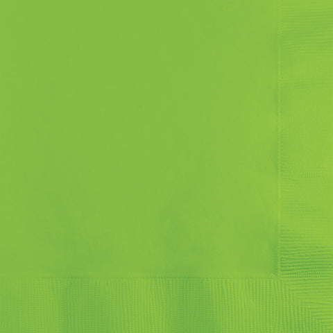 Lime Green Bulk Party 2 Ply Beverage Napkins (600/Case)-Solid Color Party Tableware-Creative Converting-600-