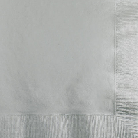 Silver Bulk Party 2 Ply Beverage Napkins (600/Case)