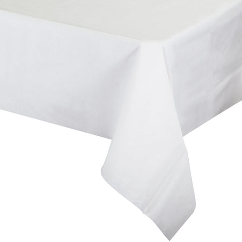 "White Disposable Catering Paper Tablecovers 50"" x 108"""