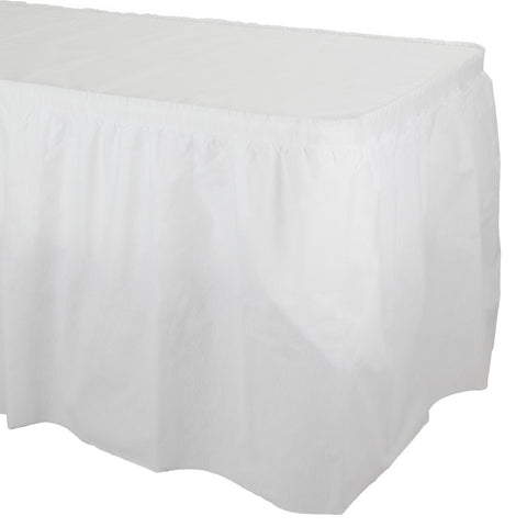 White Disposable Catering Tableskirts-Disposable Catering Supplies-Creative Converting-6-