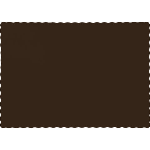 Brown Bulk Party Paper Placemats (600/Case)-Solid Color Party Tableware-Creative Converting-600-