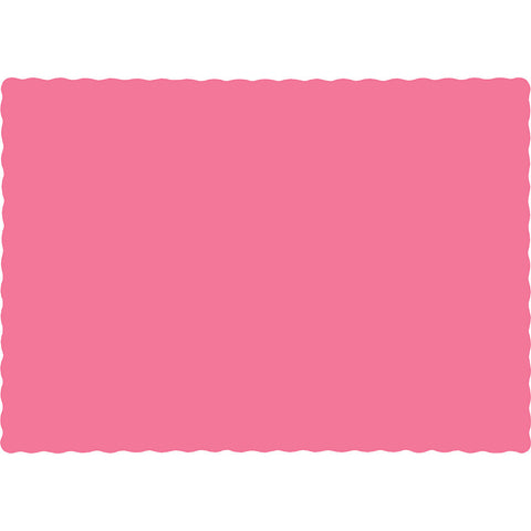 Candy Pink Bulk Party Paper Placemats (600/Case)-Solid Color Party Tableware-Creative Converting-600-