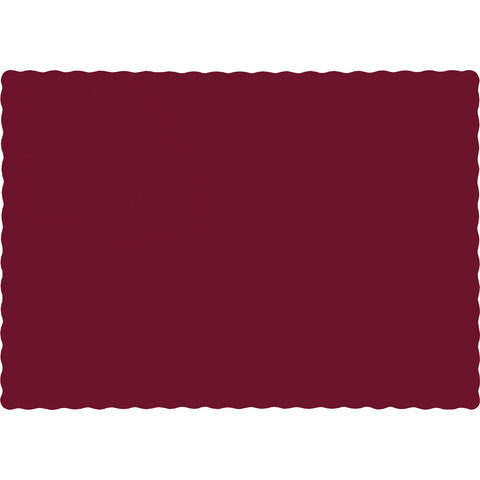 Burgundy Bulk Party Paper Placemats  (600/Case)