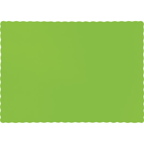 Lime Green Bulk Party Paper Placemats  (600/Case)