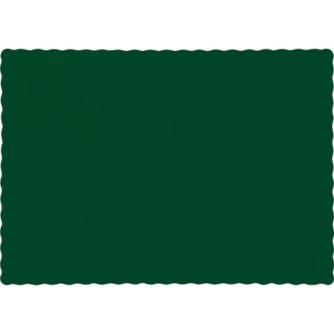Hunter Green Bulk Party Paper Placemats  (600/Case)