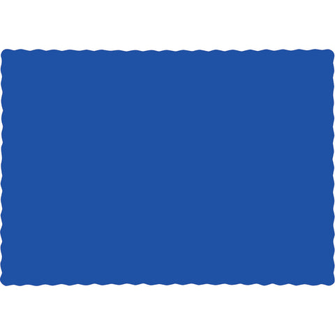 Cobalt Blue Bulk Party Paper Placemats (600/Case)-Solid Color Party Tableware-Creative Converting-600-