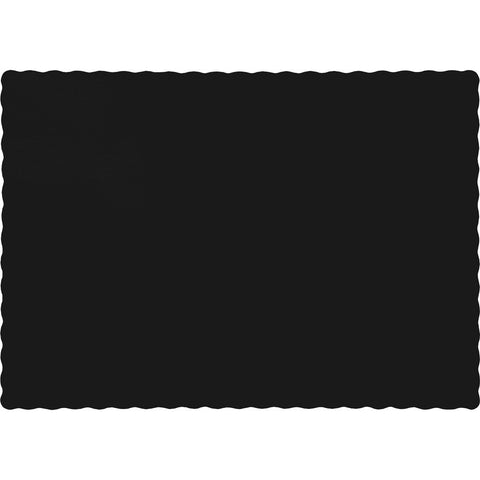 Black Bulk Party Paper Placemats  (600/Case)